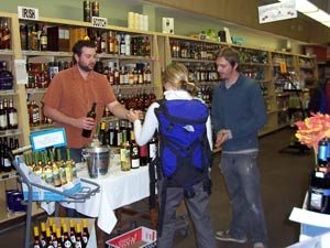 In-store wine tasting at Pettyjohn's