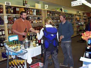 In-store wine tasting at Pettyjohn's